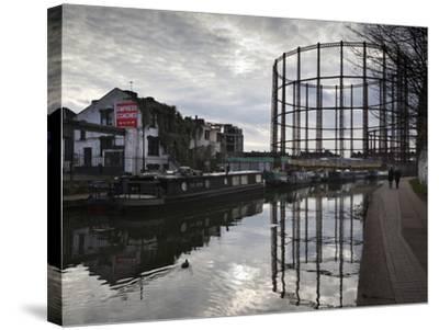 Grand Union Canal, Hackney, London, England, United Kingdom, Europe-Stuart Black-Stretched Canvas Print