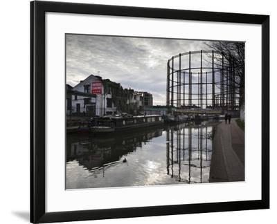 Grand Union Canal, Hackney, London, England, United Kingdom, Europe-Stuart Black-Framed Photographic Print