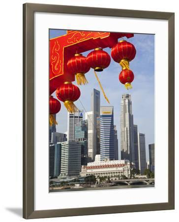 City Kkyline and Financial District, Singapore, Southeast Asia, Asia-Gavin Hellier-Framed Photographic Print
