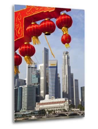 City Kkyline and Financial District, Singapore, Southeast Asia, Asia-Gavin Hellier-Metal Print