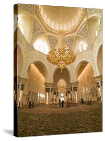 Sheikh Zayed Mosque, Abu Dhabi, United Arab Emirates, Middle East-Angelo Cavalli-Stretched Canvas Print