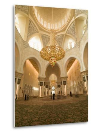 Sheikh Zayed Mosque, Abu Dhabi, United Arab Emirates, Middle East-Angelo Cavalli-Metal Print