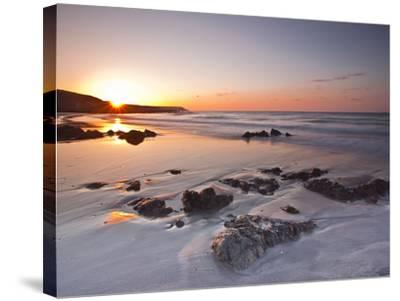 Dawn on Kennack Sands on the Lizard Peninsula in Cornwall, England, United Kingdom, Europe-Julian Elliott-Stretched Canvas Print