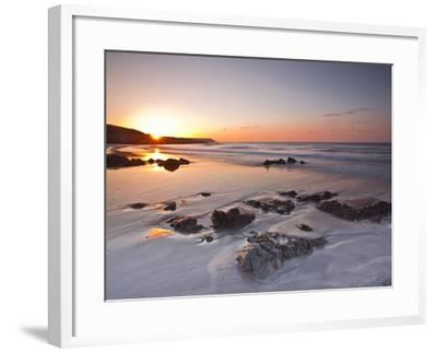 Dawn on Kennack Sands on the Lizard Peninsula in Cornwall, England, United Kingdom, Europe-Julian Elliott-Framed Photographic Print