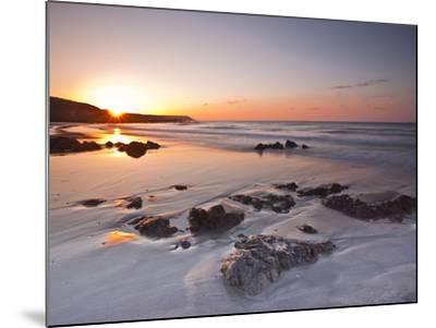 Dawn on Kennack Sands on the Lizard Peninsula in Cornwall, England, United Kingdom, Europe-Julian Elliott-Mounted Photographic Print