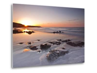 Dawn on Kennack Sands on the Lizard Peninsula in Cornwall, England, United Kingdom, Europe-Julian Elliott-Metal Print