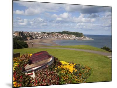 Rowing Boat and Flower Display, South Cliff Gardens, Scarborough, North Yorkshire, England-Mark Sunderland-Mounted Photographic Print