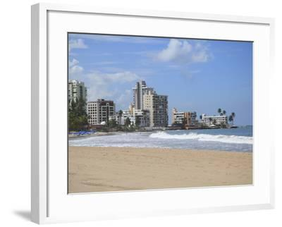 Beach, Isla Verde, San Juan, Puerto Rico, West Indies, Caribbean, USA, Central America-Wendy Connett-Framed Photographic Print