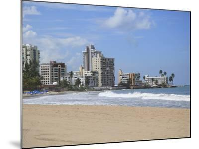 Beach, Isla Verde, San Juan, Puerto Rico, West Indies, Caribbean, USA, Central America-Wendy Connett-Mounted Photographic Print