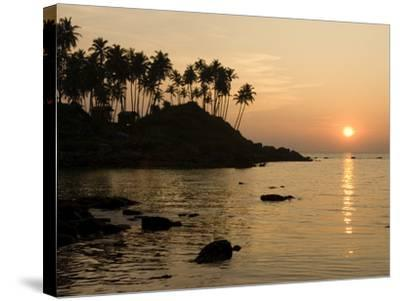 Sunset over Colomb Beach, Palolem, Goa, India, Asia-Stuart Black-Stretched Canvas Print