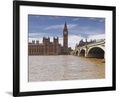Westminster Bridge and the Houses of Parliament, Westminster, London, England, UK, Europe-Julian Elliott-Framed Photographic Print