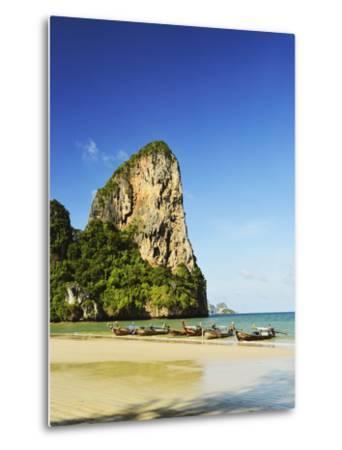 Rai Leh West Beach, Rai Leh (Railay), Andaman Coast, Krabi Province, Thailand, Southeast Asia, Asia-Jochen Schlenker-Metal Print