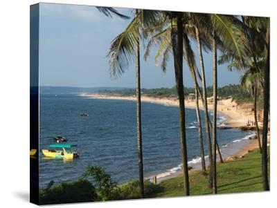 View Along Sinquerim Beach, Fort Aguada, Goa, India, Asia-Stuart Black-Stretched Canvas Print