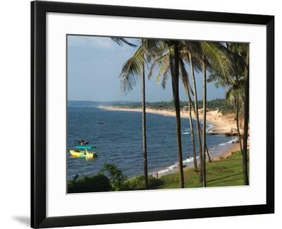 View Along Sinquerim Beach, Fort Aguada, Goa, India, Asia-Stuart Black-Framed Photographic Print