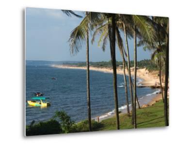 View Along Sinquerim Beach, Fort Aguada, Goa, India, Asia-Stuart Black-Metal Print