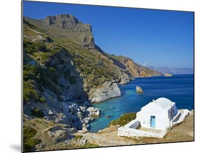 Beach and Church, Agia Anna, Amorgos, Cyclades, Aegean, Greek Islands, Greece, Europe-Tuul-Mounted Photographic Print