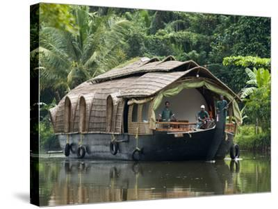 House Boat on the Backwaters, Near Alappuzha (Alleppey), Kerala, India, Asia-Stuart Black-Stretched Canvas Print