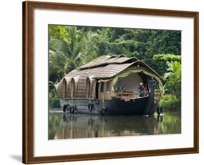 House Boat on the Backwaters, Near Alappuzha (Alleppey), Kerala, India, Asia-Stuart Black-Framed Photographic Print