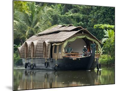 House Boat on the Backwaters, Near Alappuzha (Alleppey), Kerala, India, Asia-Stuart Black-Mounted Photographic Print