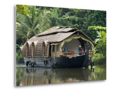 House Boat on the Backwaters, Near Alappuzha (Alleppey), Kerala, India, Asia-Stuart Black-Metal Print