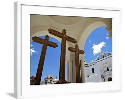 Basilica of Our Lady of Copacabana on the Shores of Lake Titicaca, Bolivia, South America-Simon Montgomery-Framed Photographic Print