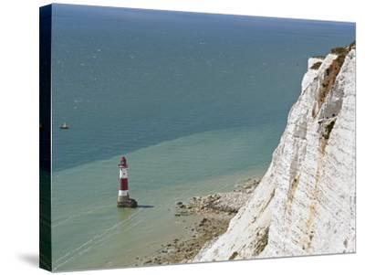 Beach Head Lighthouse, Near Eastbourne, East Sussex, England, United Kingdom, Europe-Matthew Frost-Stretched Canvas Print