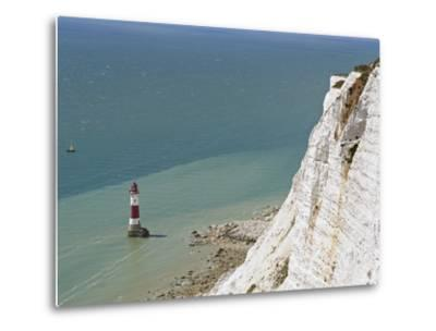 Beach Head Lighthouse, Near Eastbourne, East Sussex, England, United Kingdom, Europe-Matthew Frost-Metal Print