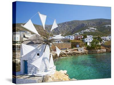 Aigiali Town and Port, Amorgos, Cyclades, Aegean, Greek Islands, Greece, Europe-Tuul-Stretched Canvas Print