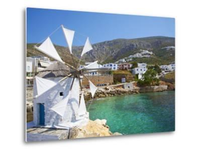 Aigiali Town and Port, Amorgos, Cyclades, Aegean, Greek Islands, Greece, Europe-Tuul-Metal Print