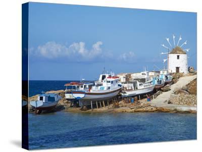 Windmill, Hora, Chora, Koufonissia, Cyclades, Aegean, Greek Islands, Greece, Europe-Tuul-Stretched Canvas Print
