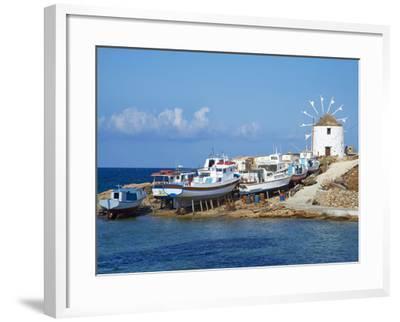 Windmill, Hora, Chora, Koufonissia, Cyclades, Aegean, Greek Islands, Greece, Europe-Tuul-Framed Photographic Print