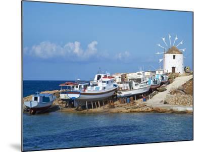 Windmill, Hora, Chora, Koufonissia, Cyclades, Aegean, Greek Islands, Greece, Europe-Tuul-Mounted Photographic Print