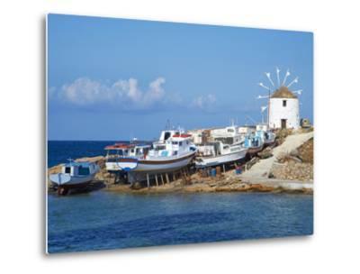 Windmill, Hora, Chora, Koufonissia, Cyclades, Aegean, Greek Islands, Greece, Europe-Tuul-Metal Print