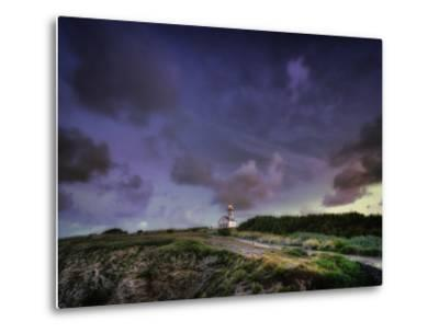 Les Poulains Lighthouse-Philippe Manguin-Metal Print