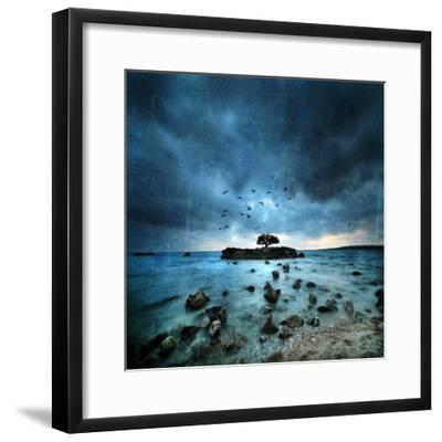 Misty Blue-Philippe Sainte-Laudy-Framed Premium Photographic Print