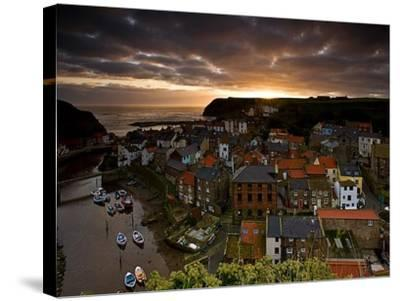 Dawn over Staithes-Doug Chinnery-Stretched Canvas Print
