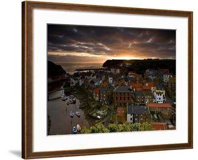 Dawn over Staithes-Doug Chinnery-Framed Photographic Print