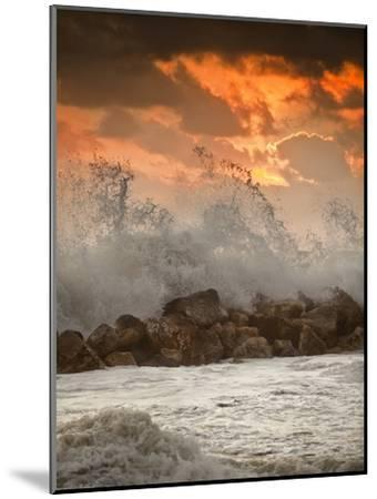 Foamy Sunset-Marco Carmassi-Mounted Photographic Print