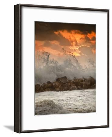 Foamy Sunset-Marco Carmassi-Framed Photographic Print