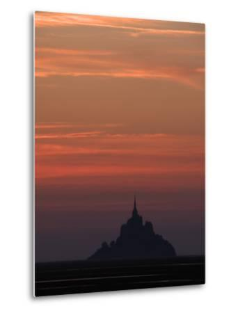 Mont Saint Michel at Night-Philippe Manguin-Metal Print