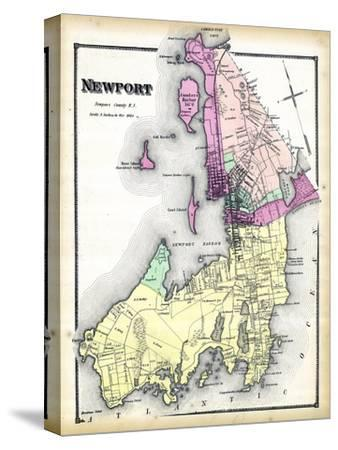 1870, Newport, Rhode Island, United States--Stretched Canvas Print