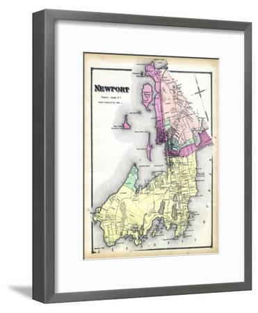 1870, Newport, Rhode Island, United States--Framed Premium Giclee Print