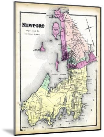 1870, Newport, Rhode Island, United States--Mounted Premium Giclee Print