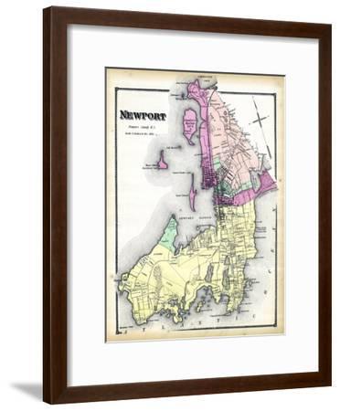 1870, Newport, Rhode Island, United States--Framed Giclee Print