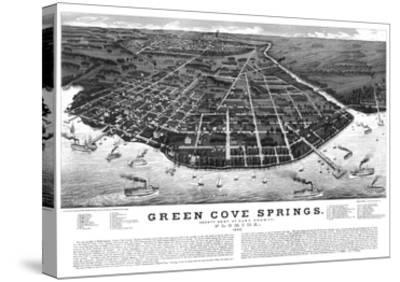 1885, Green Cove Springs Bird's Eye View, Florida, United States--Stretched Canvas Print
