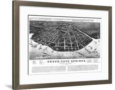 1885, Green Cove Springs Bird's Eye View, Florida, United States--Framed Giclee Print