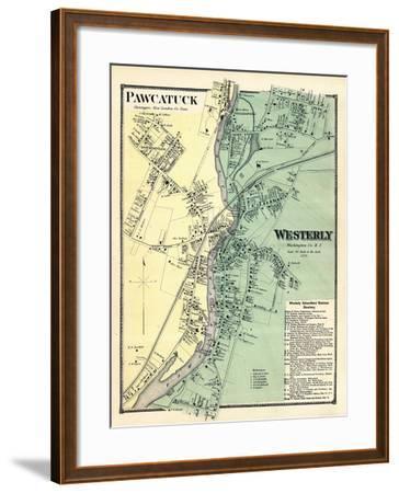 1870, Powcatuck, Westerly 2, Rhode Island, United States--Framed Giclee Print