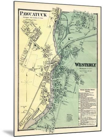 1870, Powcatuck, Westerly 2, Rhode Island, United States--Mounted Giclee Print