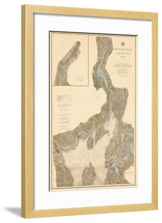 1882, Penobscot River, Belfast Bay Chart 1882, Maine, United States--Framed Giclee Print