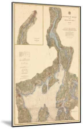 1882, Penobscot River, Belfast Bay Chart 1882, Maine, United States--Mounted Giclee Print
